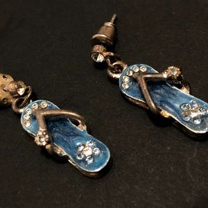 Blue Flip-Flop Earrings